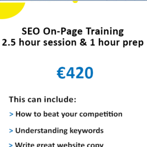 SEO on-page training Ireland