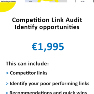 Competitor link analysis - competitor link report