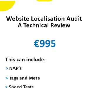 Website technical localisation audit